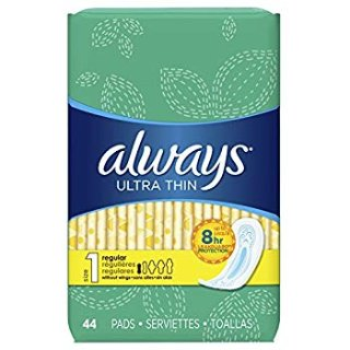 $12.59 (原价$30.37)Always 日用超薄型卫生棉1号 44片 3包 共132片
