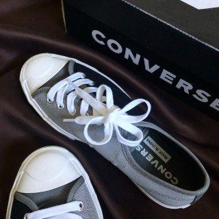 Converse开口笑黑灰拼接款...