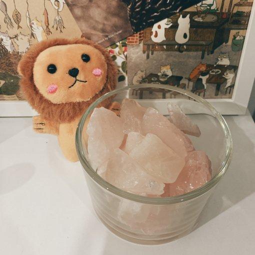 粉色喜马拉雅盐矿石扩香+玫瑰精油