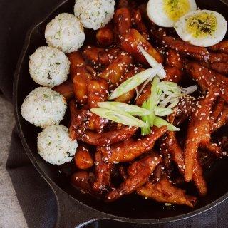 今日晚餐 |韩式辣炒鸡爪年糕条(附年糕条...