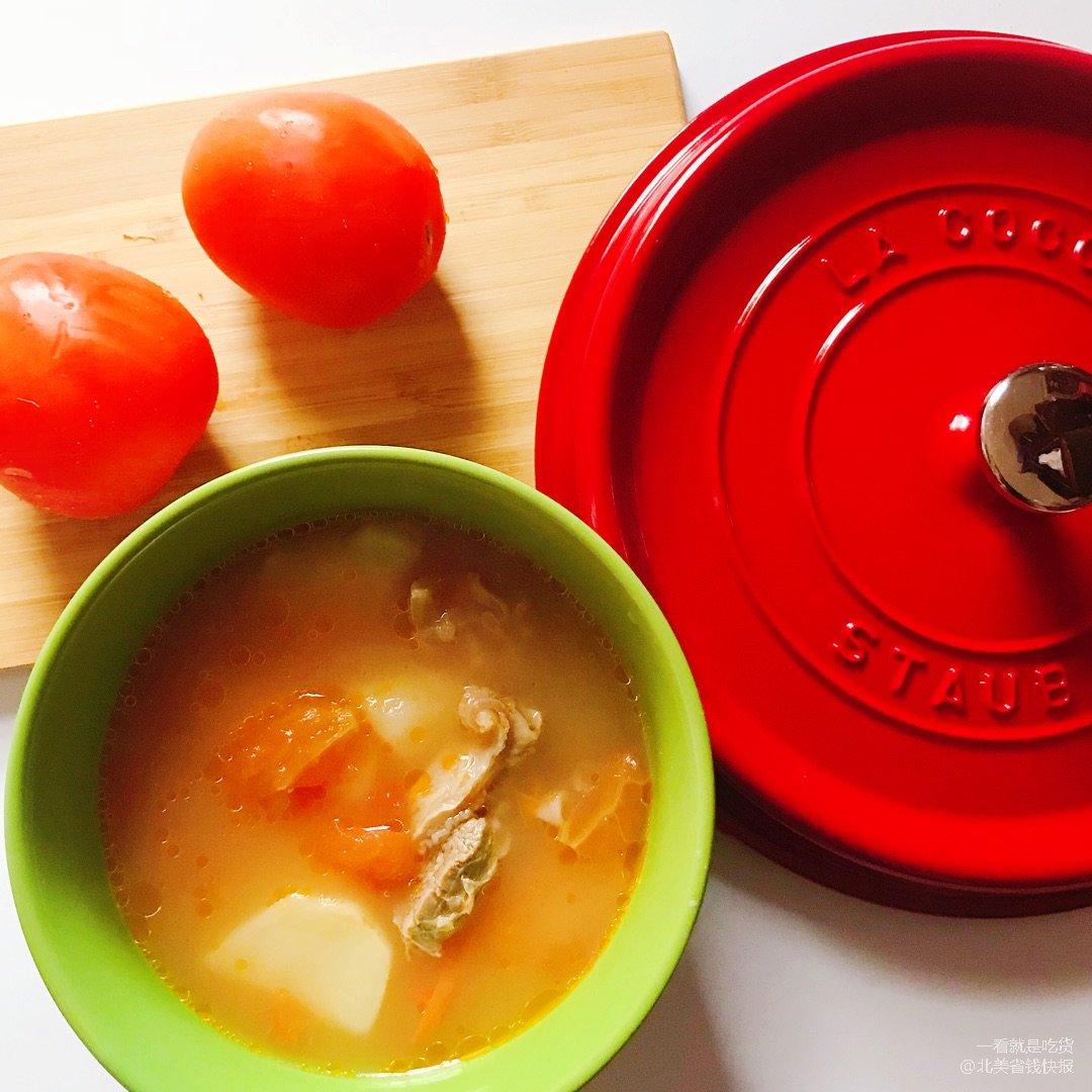🌟春季最适合喝的汤—番茄土豆牛腩汤...