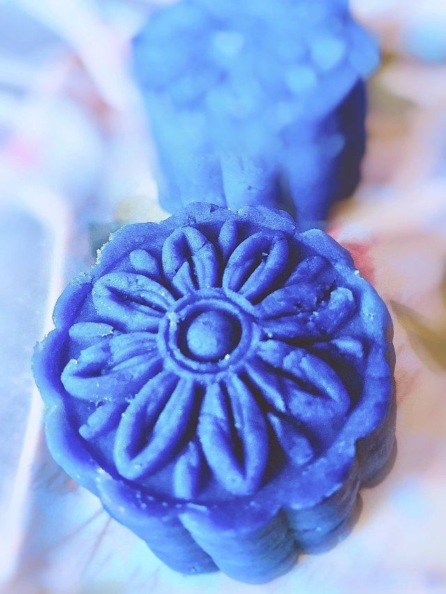 快手甜蜜可口的紫薯糕,祝福君君生日...