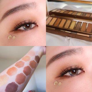 三种眼妆➡️Urban Decay蜂蜜盘超级美!