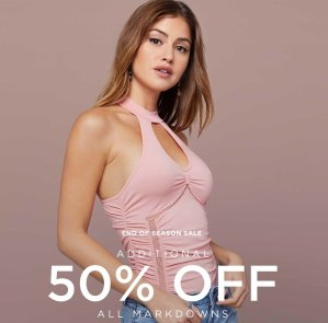 Extra 50% OffAll Markdowns