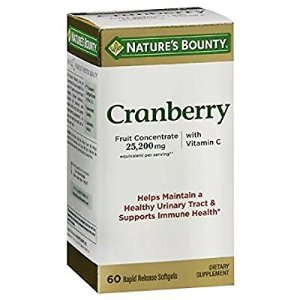 $4.69Nature's Bounty Triple Strength Cranberry with Vitamin C, 25,200 mg, 60 Softgels