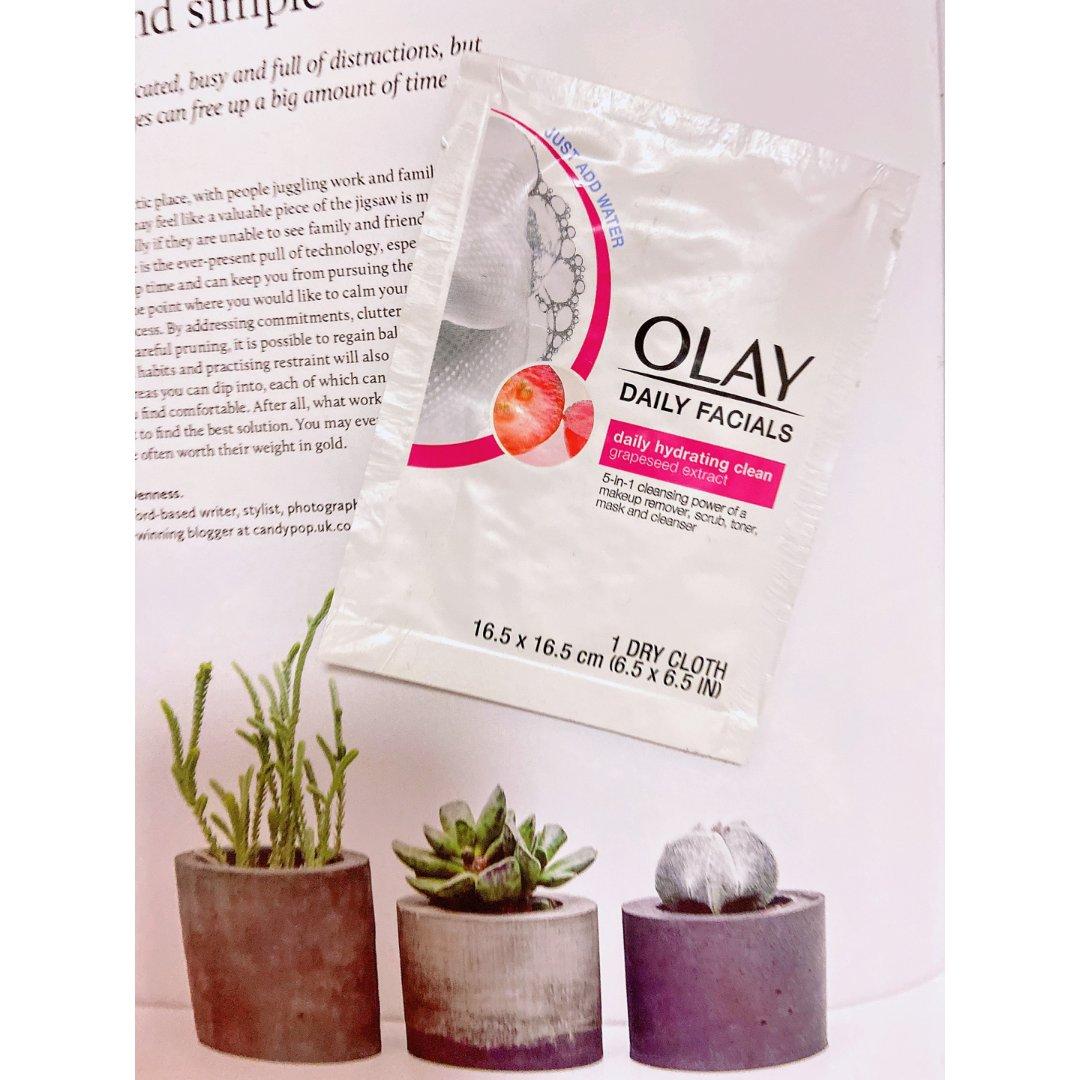 Olay卸妆湿巾试用