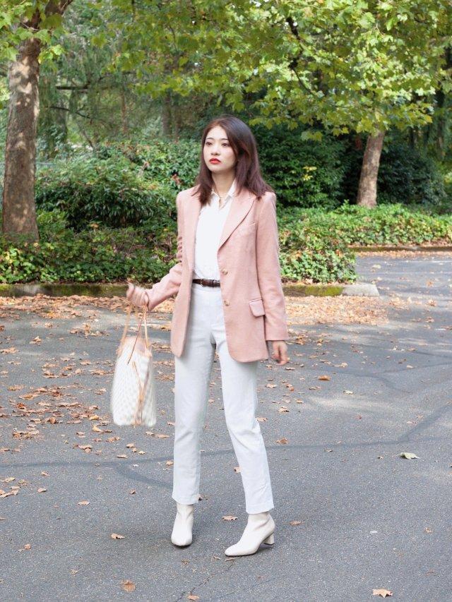 今日穿搭 | 粉色怎么穿出高级感 ...