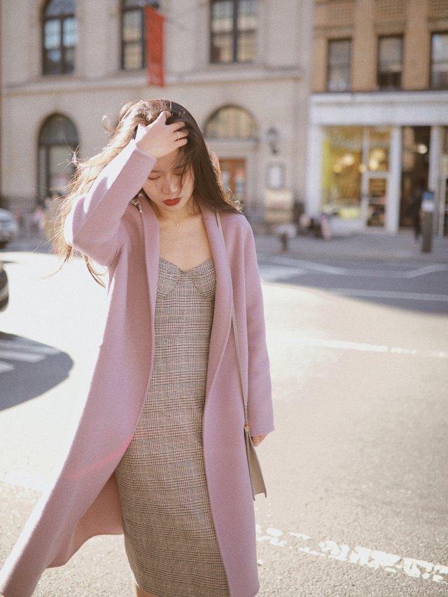 温柔风🔮冬天值得拥有一件紫色大衣