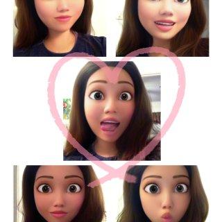 用了Snapchat这个滤镜📷你也是迪士...