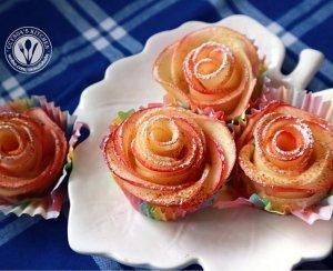 【苹果玫瑰挞(飞饼版)的做法步骤图】MASATO在成长_下厨房
