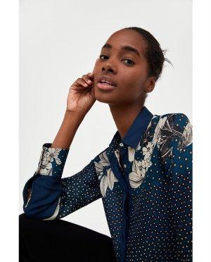 FLORAL AND POLKA DOT PRINT SHIRT-Shirts-SHIRTS I TOPS-WOMAN-SALE | ZARA United States