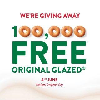甜甜圈今天免费领🍩 Krispy Kre...