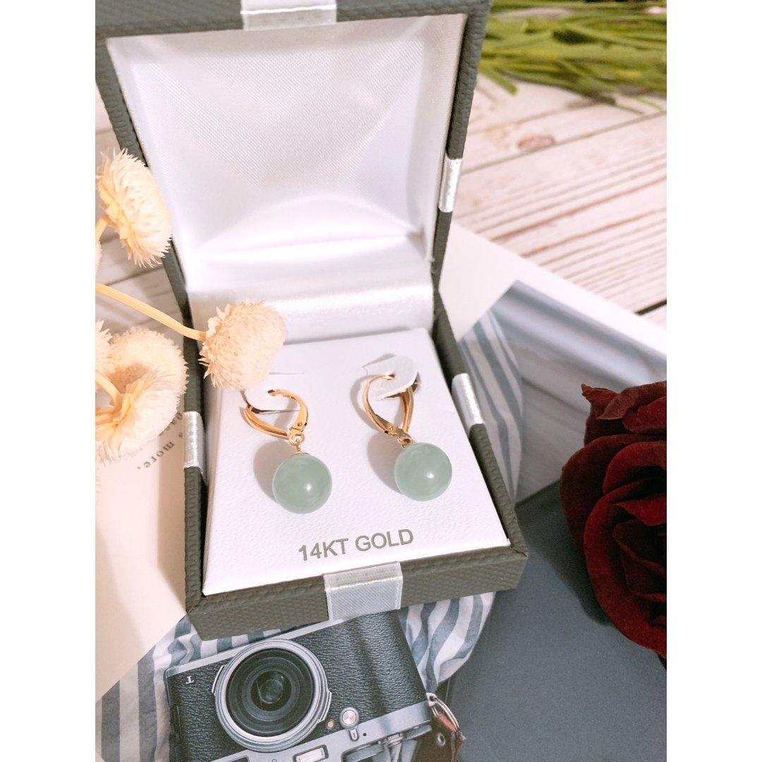 礼物片~14K珍珠玉石耳环