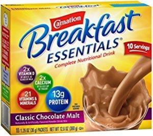 60包$19.04 每包仅需$0.32Carnation Breakfast Essentials 早餐牛奶巧克力粉状饮品6盒10包装