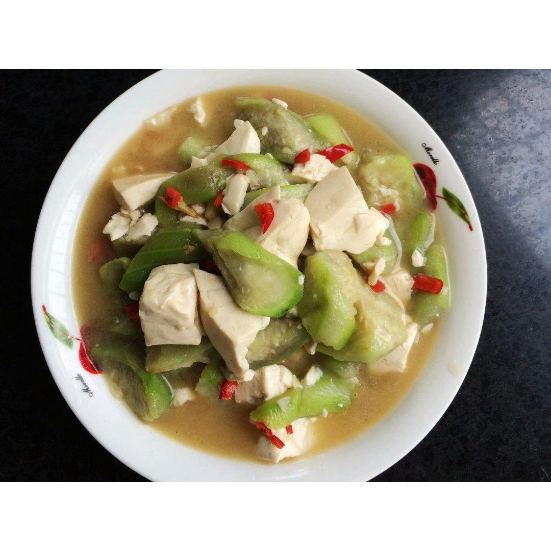 清香丝瓜炒豆腐