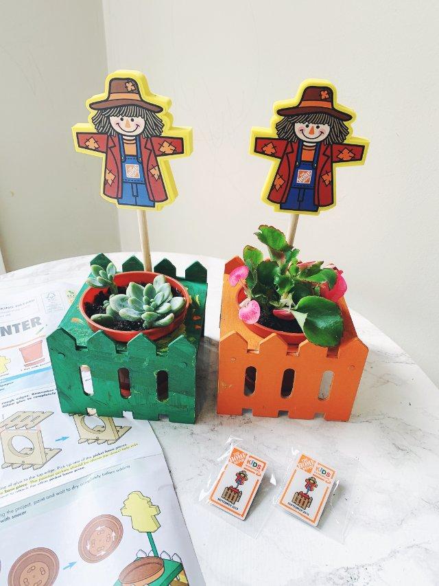 Home Depot 9月DIY人偶花盆