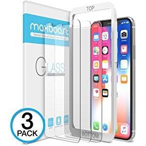 $5.99(原价$19.99)白菜价:XDesign iPhone X 钢化玻璃膜 3片装