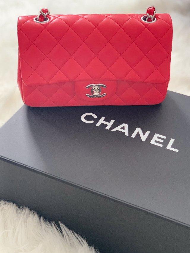 Chanel mini cf 包控...