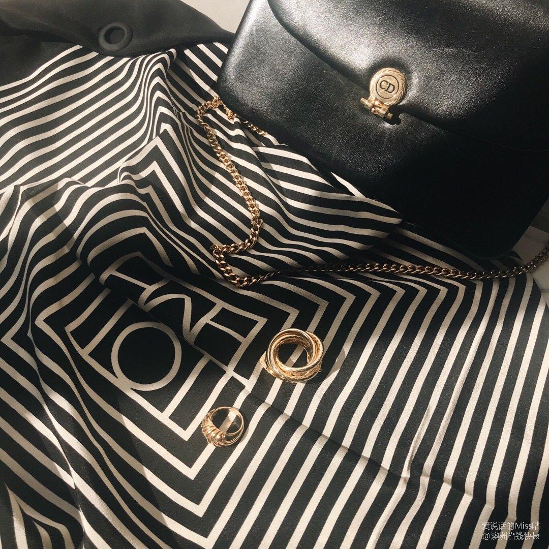 50刀淘到80年代的丝巾扣&18k...