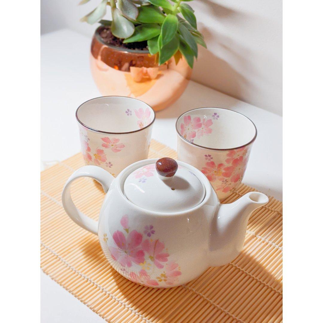 网易严选樱花茶具三件套|日本食器美...