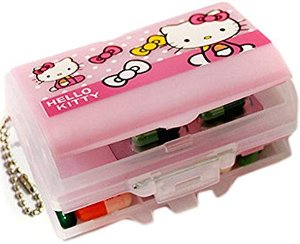 Amazon.com: E.a@market Cute Hellokitty Portable Travel Mini Medicine Box: Home & Kitchen