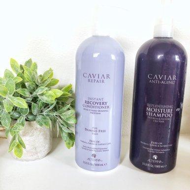 CAVIAR Anti-Aging 鱼子酱瞬间修复洗发护发套装8.5oz 2瓶