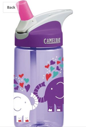 $10.25  不漏水CamelBak 儿童吸管水壶12oz,大象图案