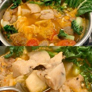 冬日裡的深夜食堂 韓式泡菜蘿蔔糕湯😌...