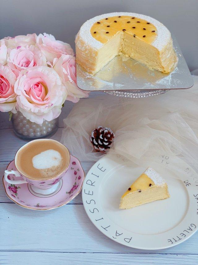 Lady m 的百香果千层蛋糕,惊...