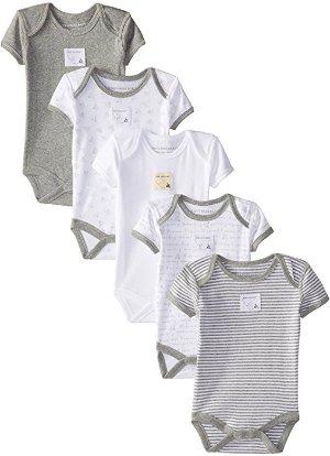 $12.03史低价:Burt's Bees Baby 小蜜蜂五件套婴儿有机棉爬服