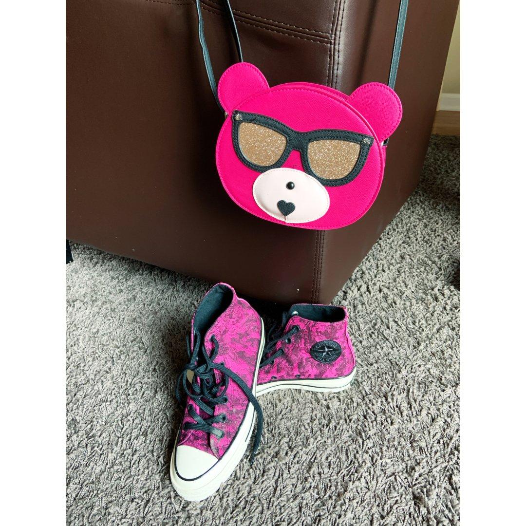 小熊包包和帆布鞋