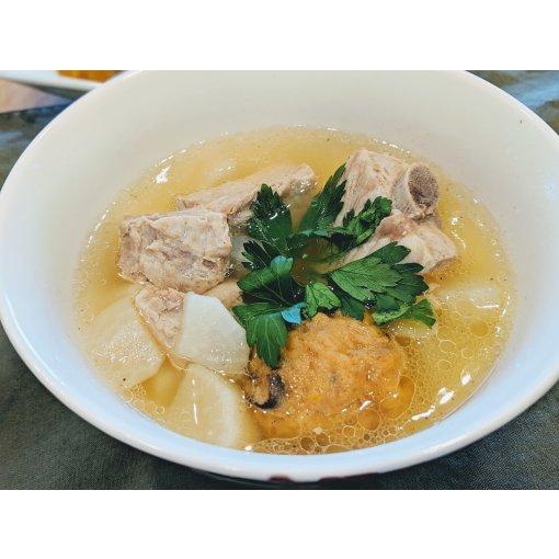 #Instant Pot食谱| 浓浓台式风味的萝卜排骨贡丸汤