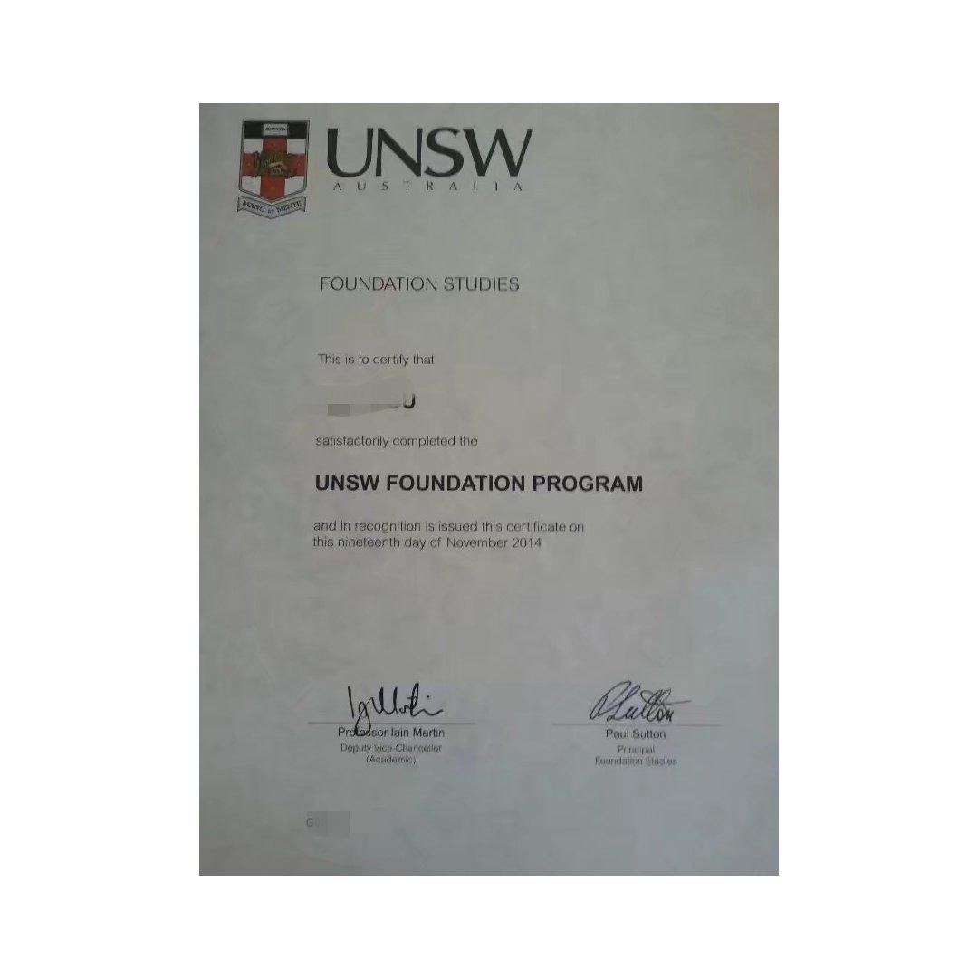 学生时代:UNSW foundat...