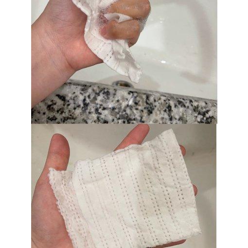 """任何肤质适用的""""洗脸巾+洗面奶""""二合一洁面巾"""