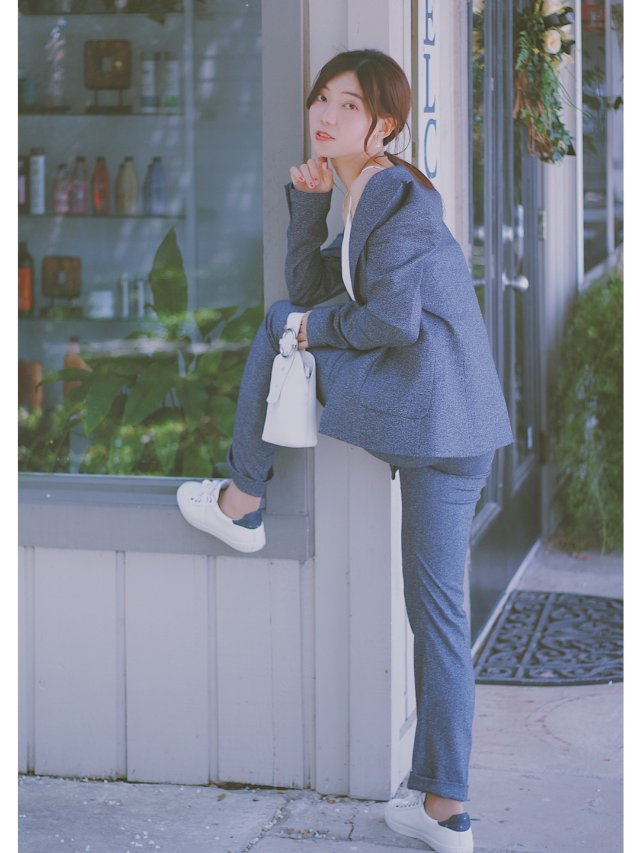 穿搭   超A的湛蓝色西服套装💙💙