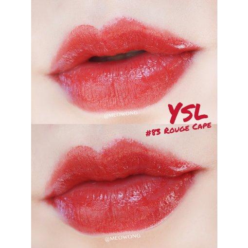 YSL 圆管新色 83 Rouge cape   试色