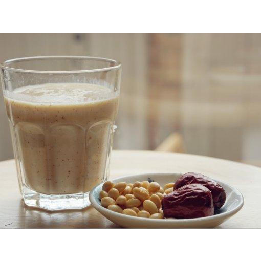 下午茶喝什么~美容养颜的红枣豆浆来一杯吧