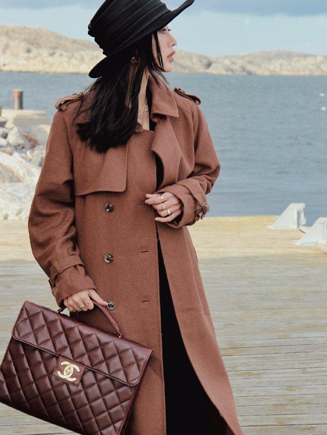 OOTD🧡🖤衣橱里永远缺一件焦糖棕大衣