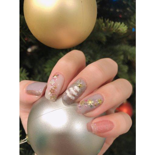 聖誕雪花❄️聖誕樹🎄布靈布靈美甲