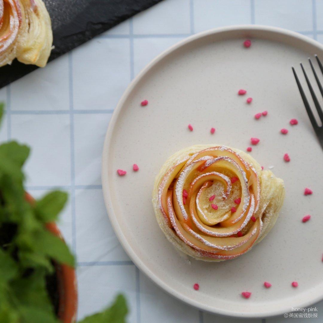 玫瑰花型苹果派...