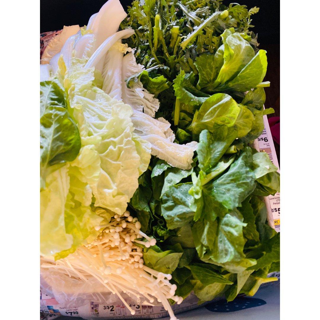 火锅备料—-青菜