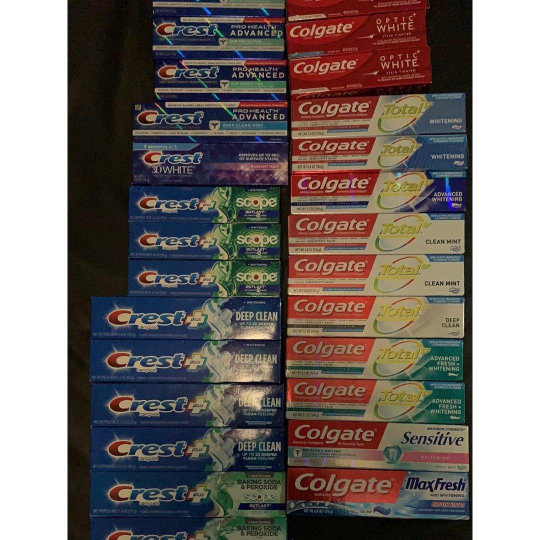 CVS和Walgreens的免费牙膏