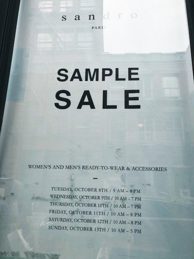 Sandro Sample Sale
