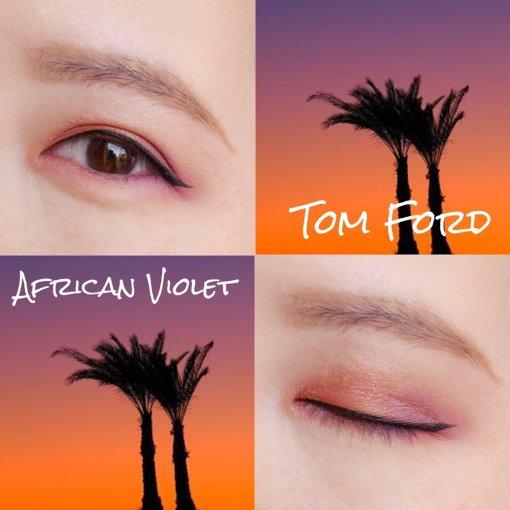 Tom Ford 新款4色紫橘眼影眼妝試色