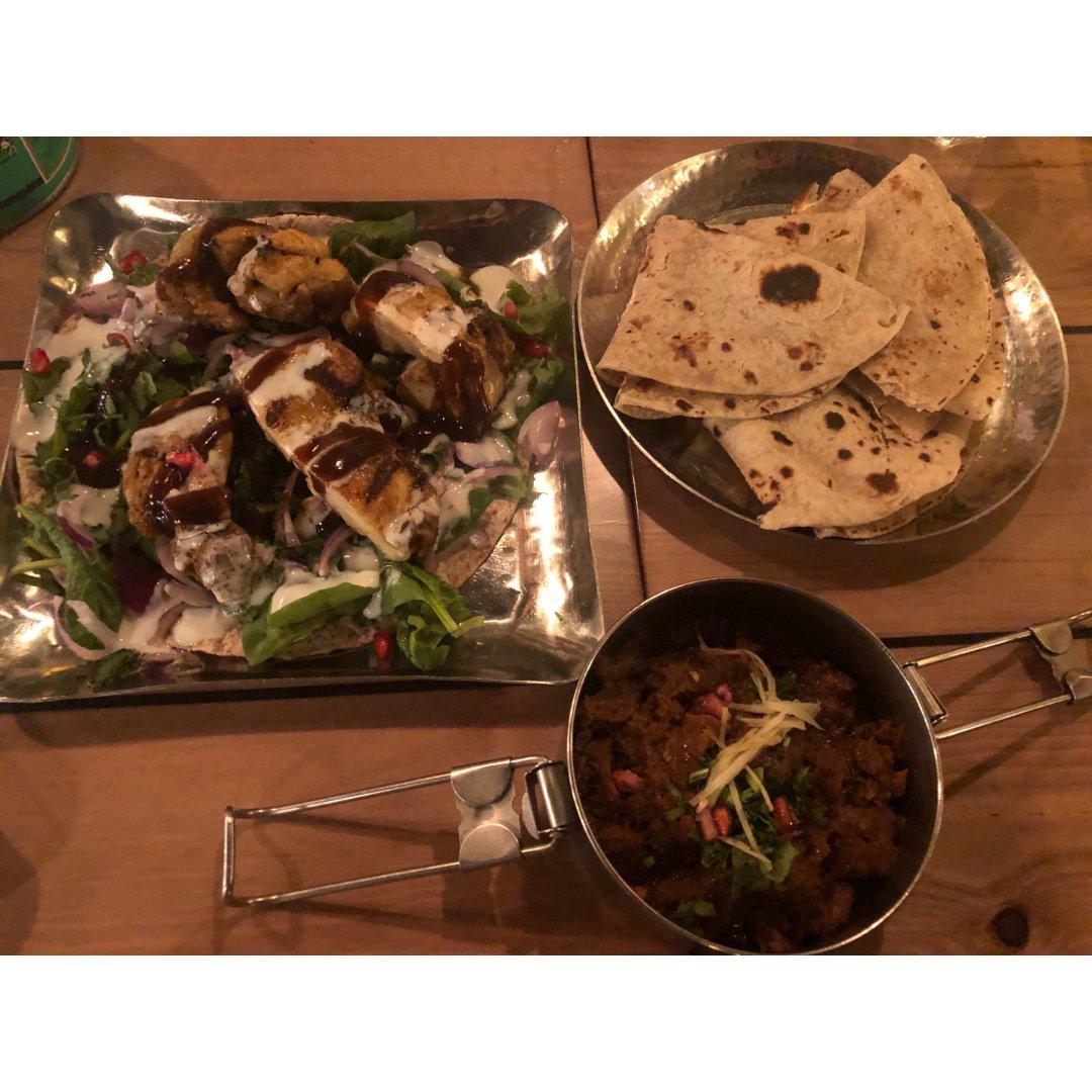 MOWGLI,Monkey Wrap,Roti bread,Home lamb curry