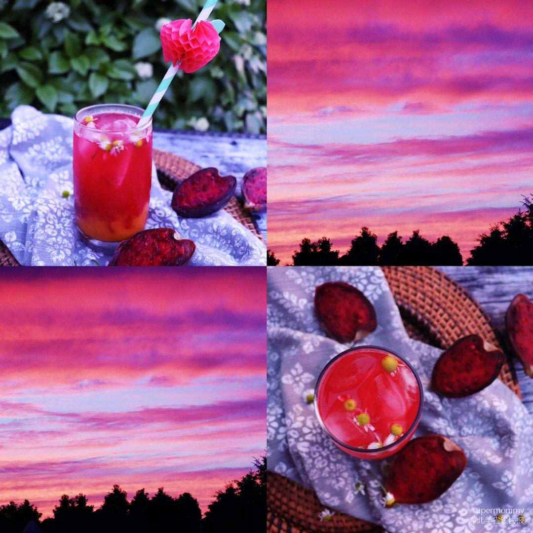 ❤️做一杯刺梨芒果饮/把这夕阳的美喝下去