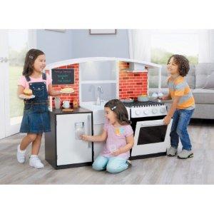 $59.88 (原价$249.99)手慢无:Little Tikes 木质小厨房 + 40件厨房玩具