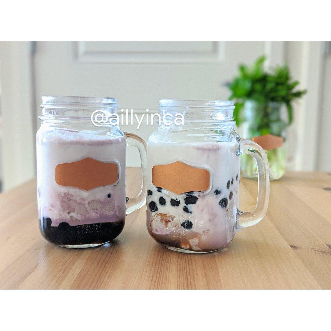 #饮料在家做| 自制芋头波波黑糖珍珠奶茶