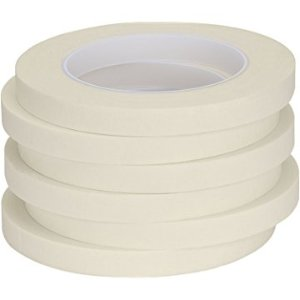Pusdon Masking Tape, White, Pack of 5, Each 1/2-Inch x 60 Yards (13mm x 55m) - - Amazon.com