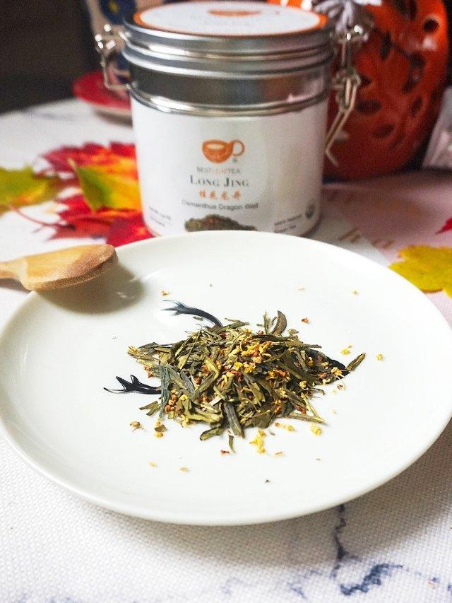 当春茶遇上秋花,就成了桂花龙井